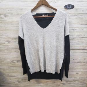 Madewell Black & Light Gray V Neck Sweater